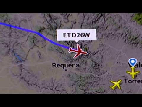 Flightradar24 on Samsung Smart TV web browser