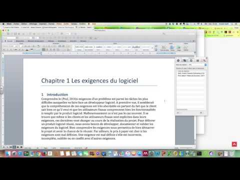 Bibliographie sous Word mac 2011