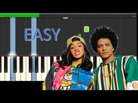 Bruno Mars Finesse Easy Piano Tutorial - How To Play