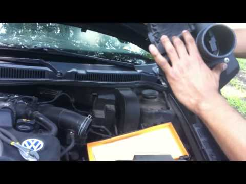 How to clean or change MAF sensor on VW golf MK4