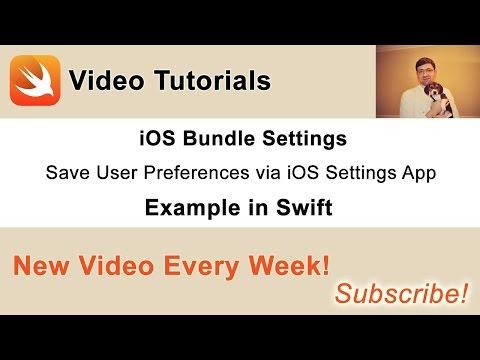 iOS Settings Bundle - Let Users Configure Your App via the iOS Settings App