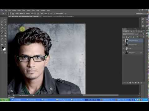 How to change backgroung in Photoshop CS6