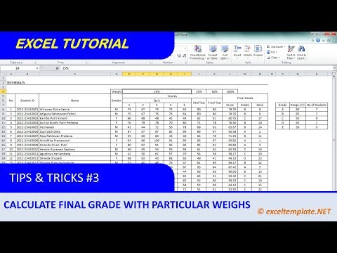 How to Calculate Weighted Average with Several Criteria to Define Student Final Grade