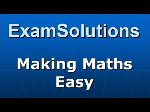 Cumulative Distribution Function : Example : ExamSolutions