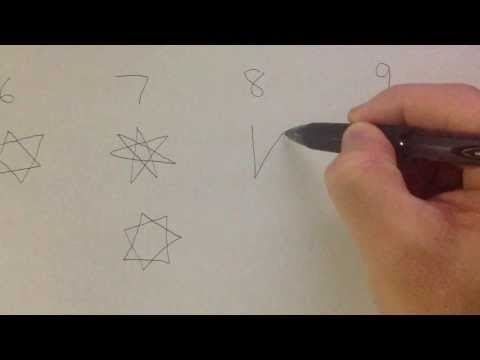 How to Draw: 5, 6, 7, 8, 9 Pointed Star