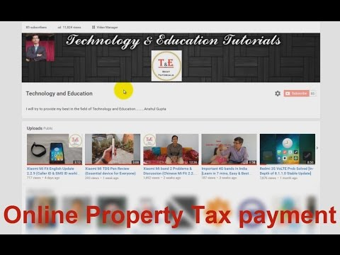 How to pay Property Tax online Hindi (RMC-Raipur Municipal Corporation)