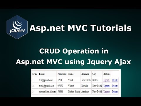 CRUD Operations in Asp.net MVC using Jquery JSON Ajax