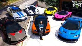 GTA 5 - Stealing NEED FOR SPEED Vehicles with Franklin! (Real Life Cars #99)