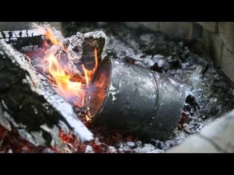 Making  Homemade Charcoal