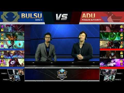 2018 Lol Varsity League Spring Term | Week 2 | BULSU vs ADU