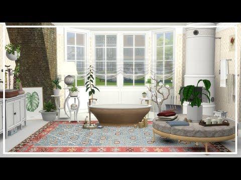 SIMS 4 SUMMER BATHROOM 🌞 Room Build + CC List