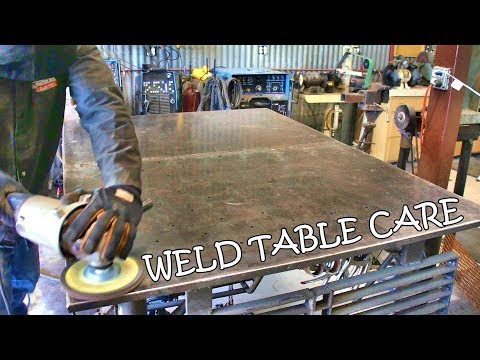 HOW I keep my WELDING TABLE clean, shiny & smooth.