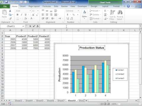 Excel 2010 Link a Chart or Axis Title to a Worksheet Cell