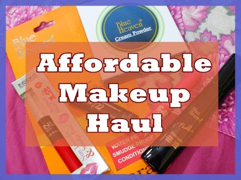 Affordable Makeup Haul - Blue Heaven, Maybelline , Insight | Indian Mom on Duty