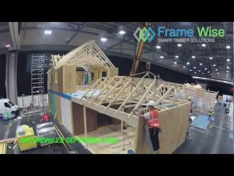 Frame Wise Build Timber Frame House at Timber Expo