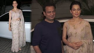 Kangana Ranaut At Manikarnika: The Queen Of Jhansi Trailer Launch With Kamal Jain