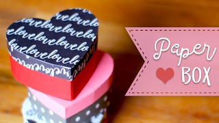 How To Make A Heart Shaped Paper Gift Box  💕  DIY Gift Box