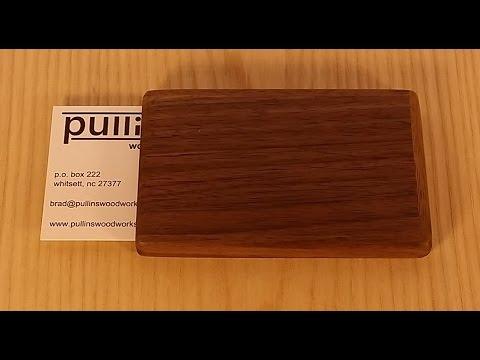 pullins woodworks - business card holders