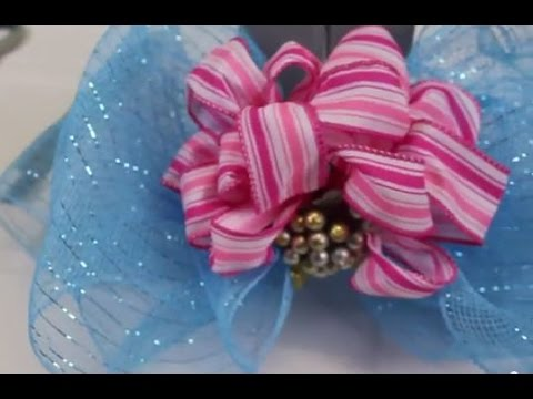 How To Make Stacked Bows Using Two Different Types Of Ribbon