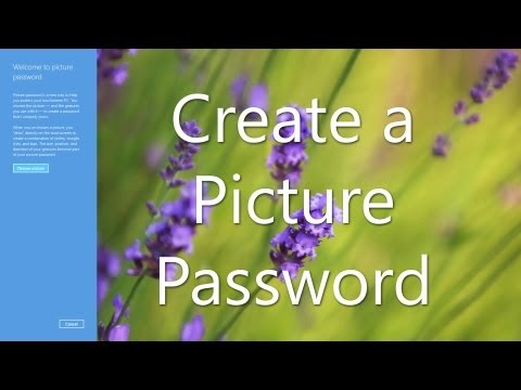 Create a Picture Password - Windows 8