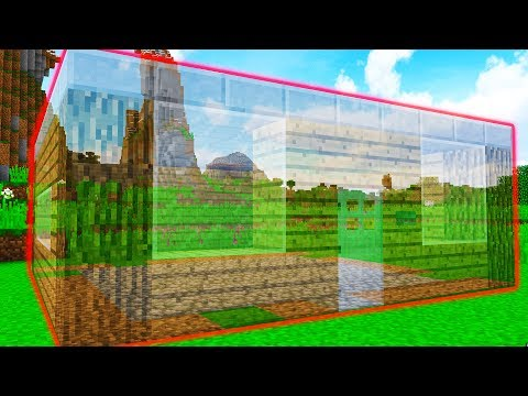 I MADE MOOSECRAFT'S HOUSE INVISIBLE! (Minecraft TROLL WARS #2)
