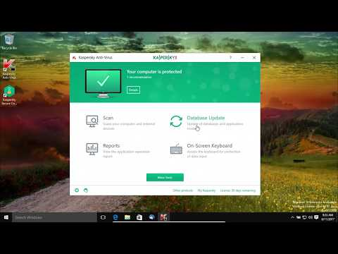 Kaspersky Antivirus Review and Test 2017