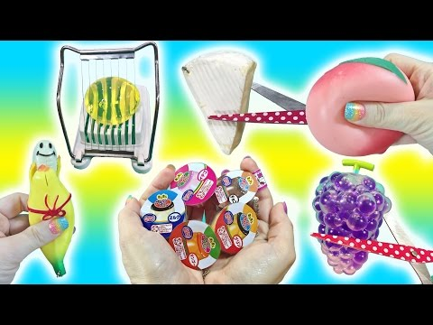 Cutting Open Squishy Food Toys! I Cut My Favorite Squishy! Jumbo Orbeez Egg Slicer Doctor Squish