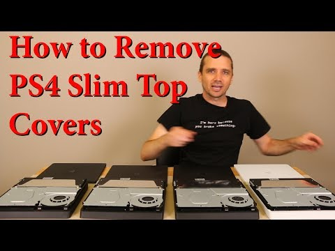 PS4 Slim Top Cover Removal - Don't Break It!