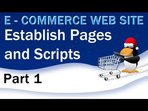 1. E - Commerce Website PHP Tutorial - Setting Up the Pages, Layout, and Templates