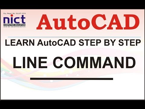 LINE Command || AutoCAD Tutorial for Beginners in hindi || Learn step by step || NICT