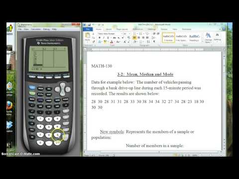 MATH-130 3-2 Finding Mean and Median on Graphing Calculator
