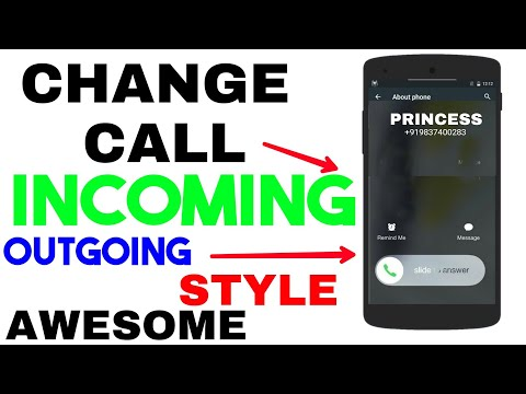 Change Your Calling Screen Style || Incoming Outgoing Style BothChange