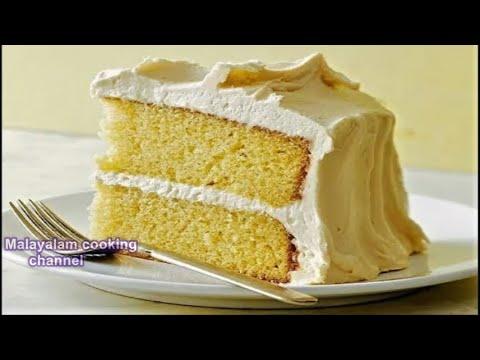 ഓവനില്ലാതെ വളരെ ഈസി ആയി Super Soft Vanilla Sponge Cake | White Forest Cake