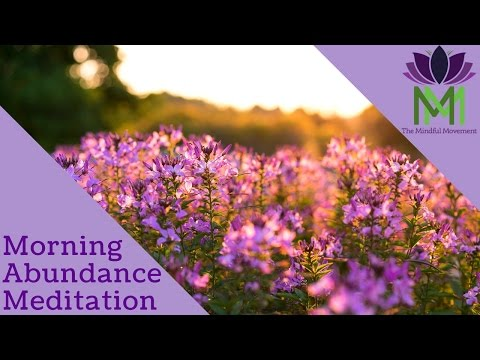 Guided Morning Meditation  for Allowing Abundance