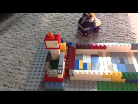 How to make a Lego roller coaster