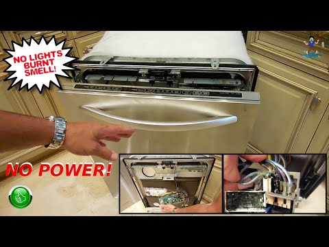 KitchenAid Dishwasher Repair(NO POWER & BURNING SMELL)