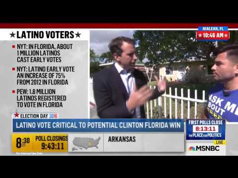 Cesar Grajales on the Latino Vote and The LIBRE Initiative on Election Day 2016 - MSNBC