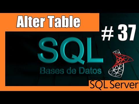 Tutoriales SQL Server #37 - Alter Table