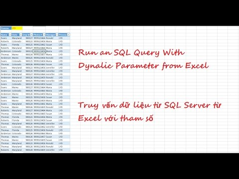 Run an SQL Query With Dynamic Parameter from Excel