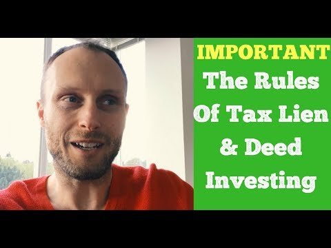 Learn the Rules Of Tax Lien & Deed Investing