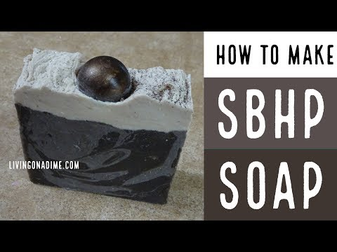 How to color swirl process soap / Coffee Soap /How To Make Stick Blender Hot Process Soap