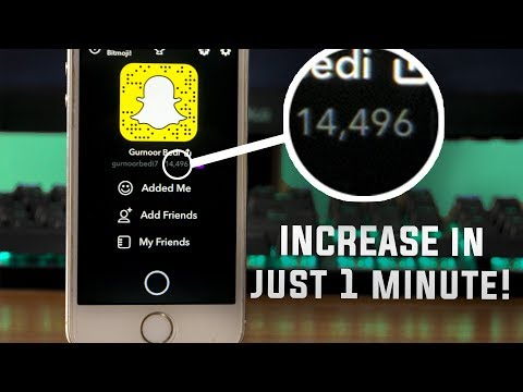 Increase Snapchat Score FAST! [No Jailbreak] 2017