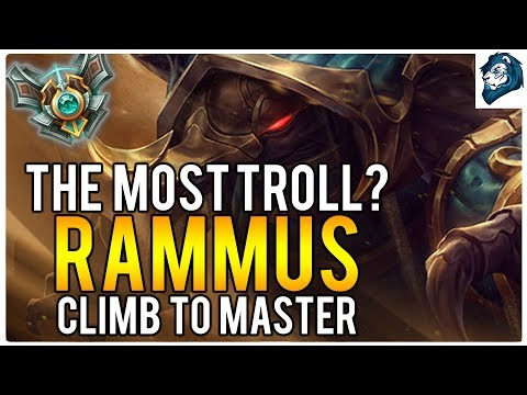 THE MOST TROLL GAME ON RAMMUS - Climb to Master | League of Legends