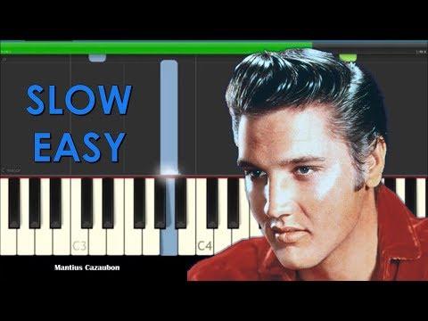 Elvis Presley Love Me Tender Slow Easy Piano Tutorial - How to Play