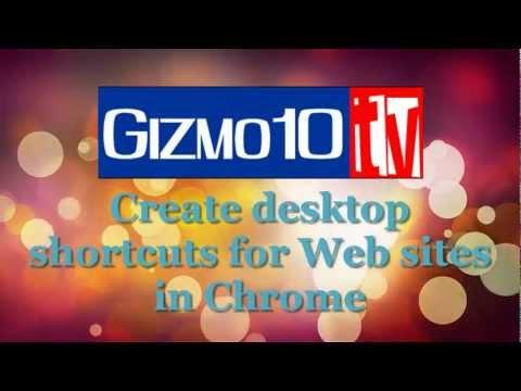 Create desktop shortcutes for Web sites in chrome