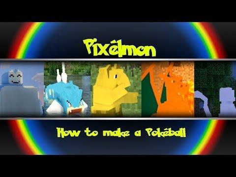 Minecraft - Pixelmon - How to Make A Pokeball!!!