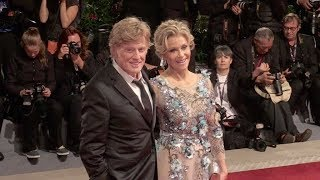 Robert Redford and Jane Fonda on the red carpet for the Premiere of Our Souls at Night in Venice