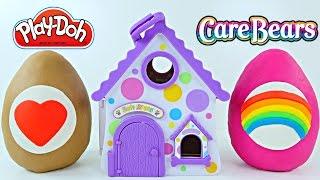 Play-Doh Soft Spots Surprise Eggs Portable Puppy House Care Bears Blind Bags Huevos Sorpresa