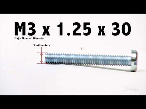 How to Read a Metric Screw Thread Callout