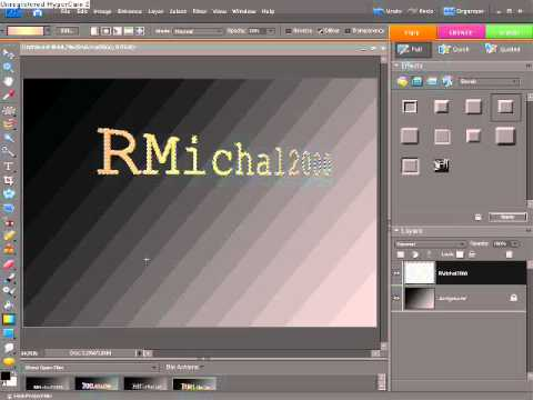 Photoshop Elements 9 - How to create 3D text in 10 steps